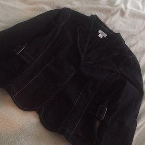 Ann Taylor loft 14p 14 petite black jacket coat